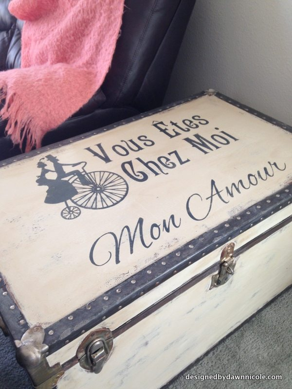 French Typography Trunk Makeover {with Annie Sloan Chalk Paint®}