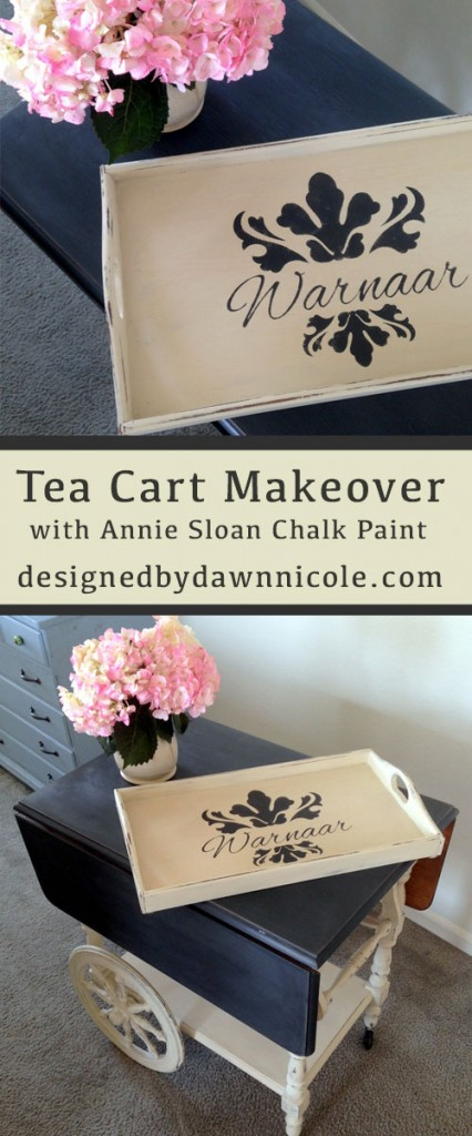 Tea Cart Makeover with ASCP
