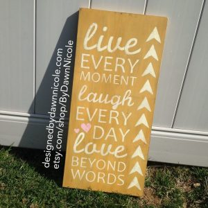Vintage-Style Live.Laugh. Love. Handmade Wood Sign #Giveaway