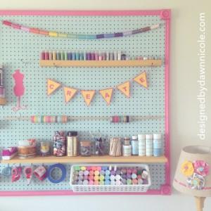 DIY Craft Room: Jumbo Framed Pegboard Wall