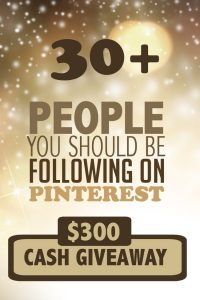 Pinterest $300 Cash Giveaway!