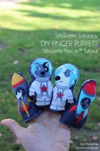 Silhouette Saturday | DIY Finger Puppets (PixScan™ Tutorial) | Tasty Happenings for bydawnnicole.com