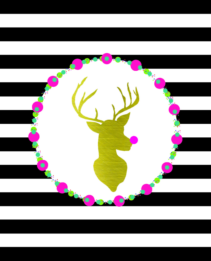 Merry & Bright Rudolph FREE Printable 8x10 and Gift Tags | bydawnnicole.com