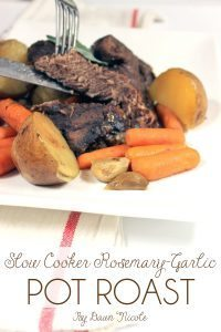 Slow Cooker Rosemary-Garlic Pot Roast (Clean Eating, Paleo, and Whole30 friendly!) | bydawnnicole.com
