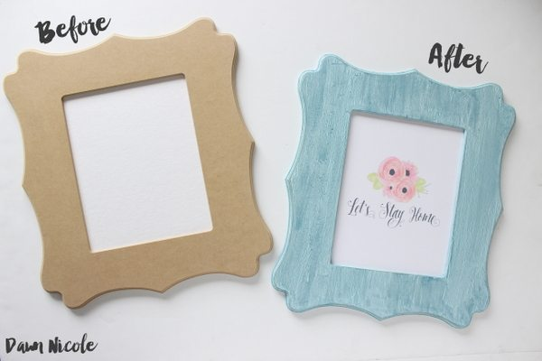 How to Create a Crackle Finish with Glue. Give a plain-jane frame with vintage-flair with this easy tutorial from bydawnnicole.com.