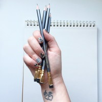Holding Pencils