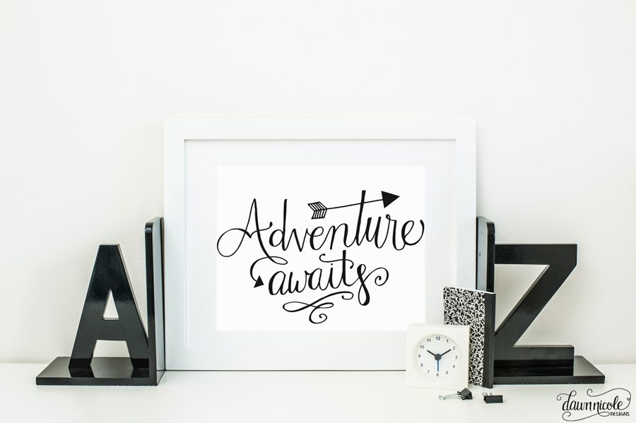 Adventure Awaits Hand-Lettered Cut File