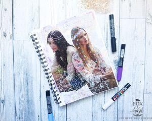 Feminine Floral Art Journal Page Tutorial