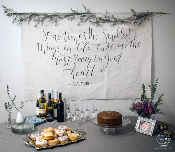 The easiest way to letter on fabric- such a good tip! And I love that giant banner
