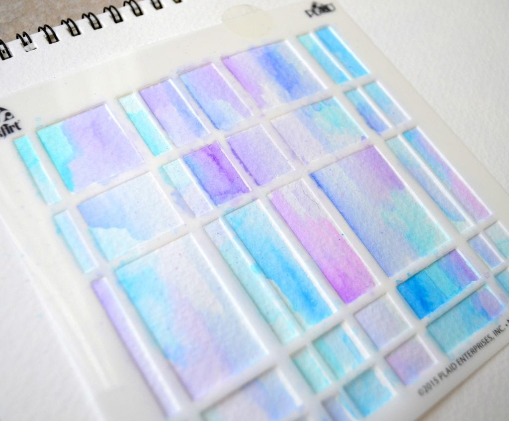 Stenciled Watercolor Project