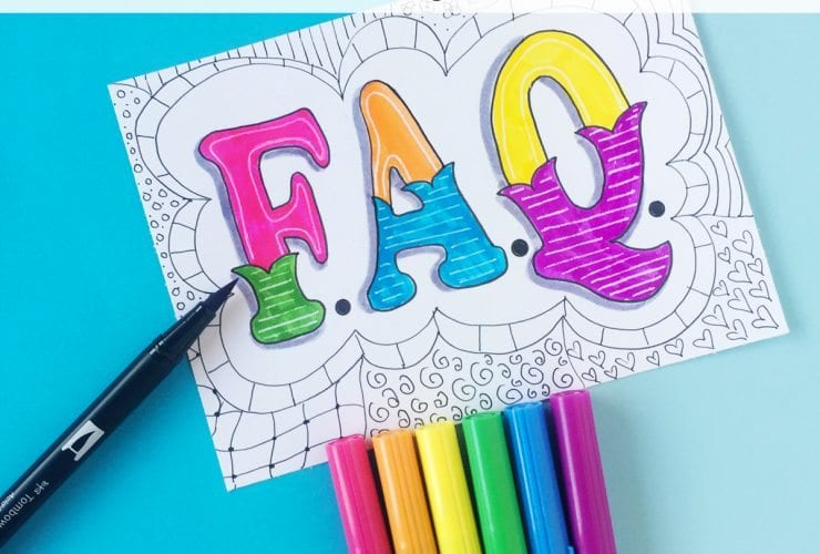 Brush Calligraphy and Lettering FAQs. Answers to the questions I'm most frequently asked about Brush Calligraphy! DawnNicoleDesigns.com