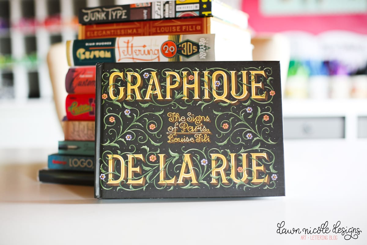 """10 Lettering Books Fabulous for for Inspiration. I went through my """"lettering library"""" and pulled out all my go-to books to flip through when I need inspiration!"""