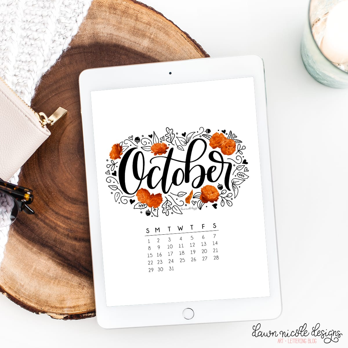 October 2017 Printable Calendar + Tech Pretties. One of my most popular posts each month are these free pretty printables and calendars for your tech!
