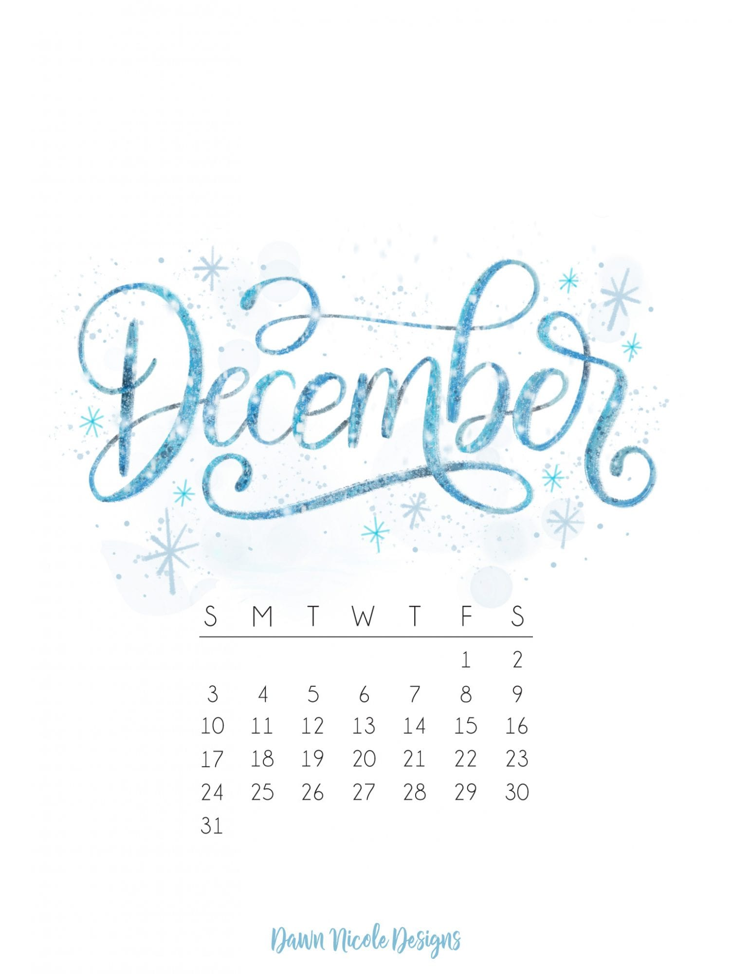 December 2017 Printable Calendar Tech Pretties