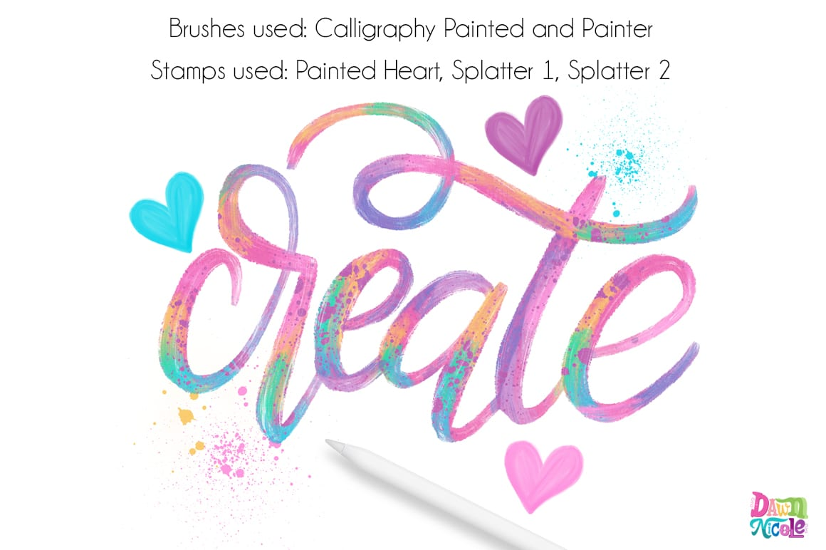 Procreate Tutorial: Artsy Painted Calligraphy | Dawn Nicole Designs®