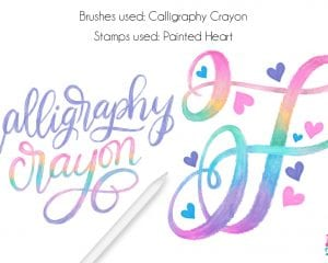 Procreate Tutorial: Rainbow Calligraphy Crayon