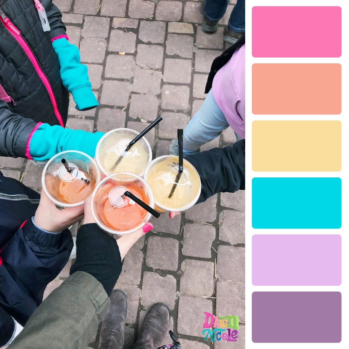 Colmar France in Color Palettes. I'm sharing my day trip to the Colmar Easter Market with you in the form of color palettes created from the photos I took in this beautiful French town.