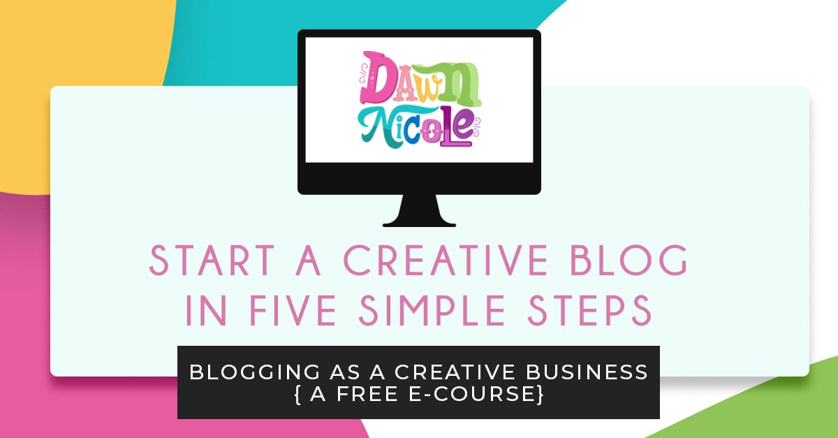 Start a Creative Blog in 5 Simple Steps. Want to get started with Blogging as a Creative Business? The first thing you need to do is set up a website and blog!