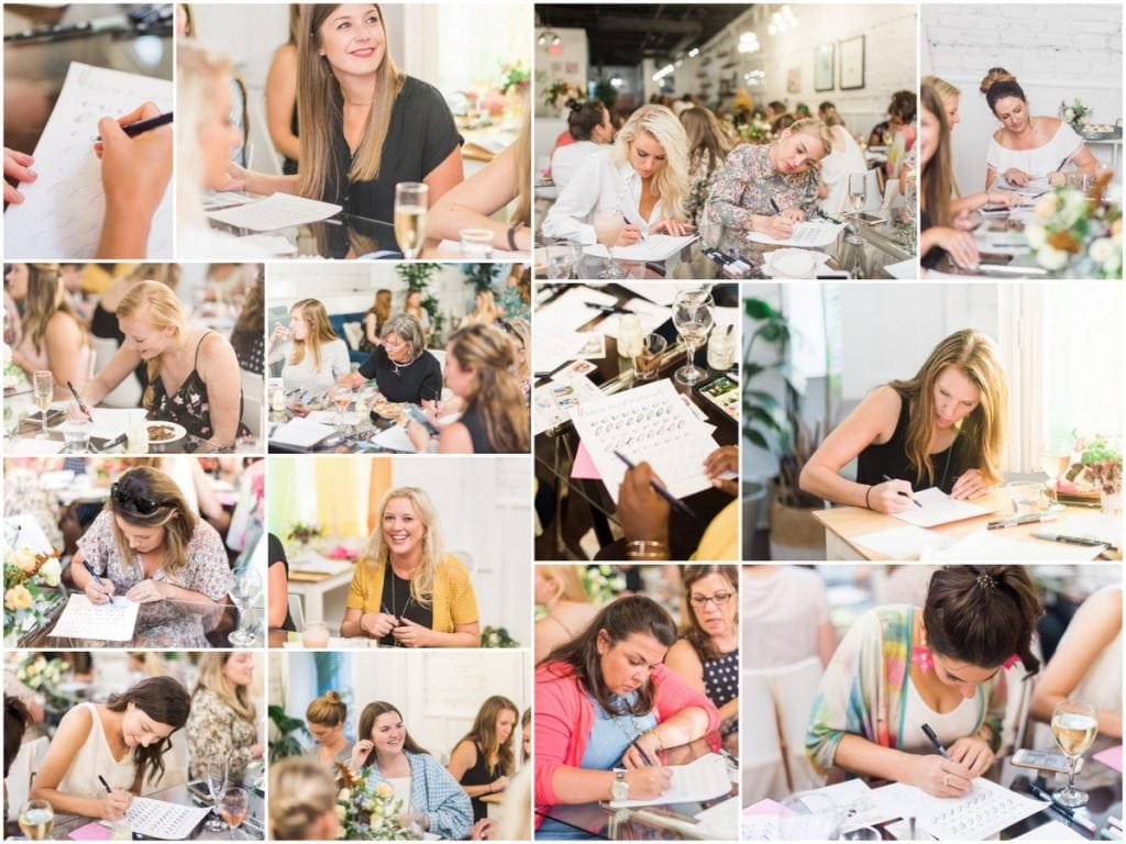 Hosting a Local Lettering Workshop. A behind-the-scenes look at hosting a fun night of lettering and calligraphy event!