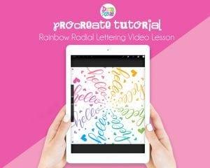 Procreate Tutorial: Rainbow Radial Lettering