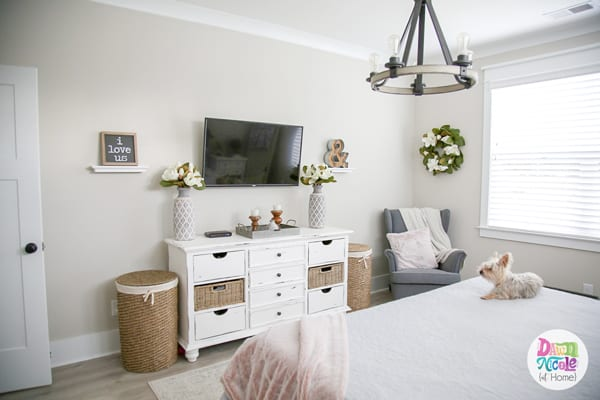 Modern Farmhouse Style Master Bedroom. How I turned our new master suite into a cozy and relaxing retreat.