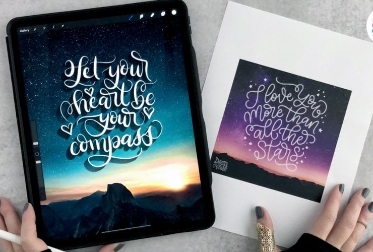 Procreate Video Lesson: Lettering on Photos. Learn how to add lettering and calligraphy to photos in this free video tutorial.