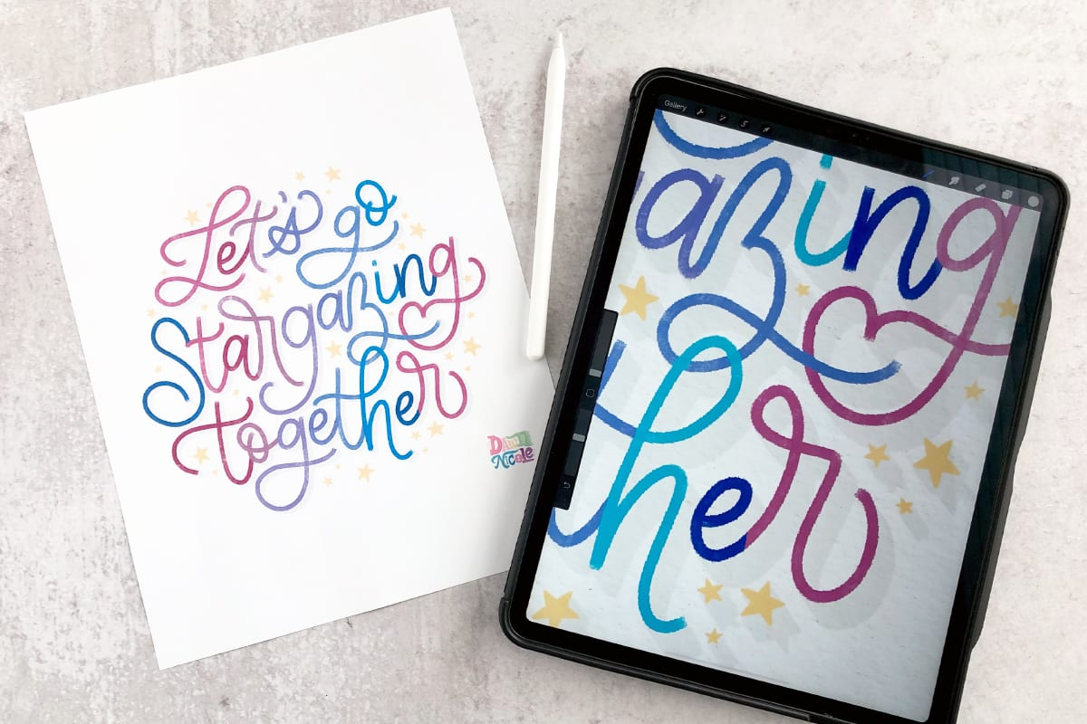 Procreate Tutorial: Lettering in a Circle
