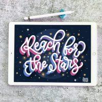 Reach for the Stars Procreate Video Lesson